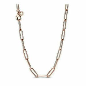 AUTHENTIC PANDORA ROSE™ NECKLACE LONG LINK CABLE CHAIN #388349-45  HINGE BOX