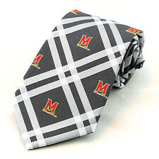 Maryland Terps Mens Necktie University College Eagles Wings Rhodes Tie New