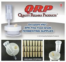 """1,000 Qrp Stoppers #000 3/8"""" Bpa-free Food Grade Beige Silicone Rubber"""