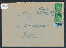87157) OWL  Landpost Ra2 21a Dreyen über Herford Brief 1951 ( neu ohne Teilstr)