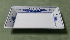 AMERICAN AIRLINES 73LP011 NORITAKE BLUE & WHITE SUSHI DISH