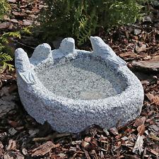 Vogeltränke aus Granit Vogel Tränke Bad Vogelbad Naturstein Stein 4 Vögelchen