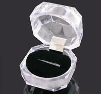 20pcs Jewelry Ring Display Storage Boxes Fashion Plastic Crystal Clear Acrylic