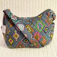 Vera Bradley On The Go Crossbody Purse Painted Medallions Gray NWT MSRP $70