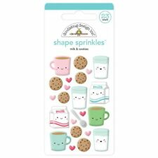 Scrapbooking Crafts Christmas Sprinkles Milk & Cookies Coffee Cups Faces Cartons