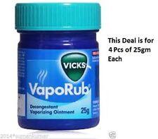 4x Vicks Vaporub Ointment Vaporizing blocked nose cough Nasal headache 25g