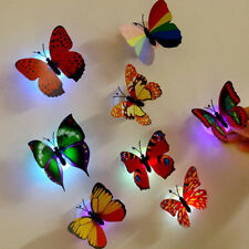 New 1 Pcs Wall Stickers Butterfly LED Lights Wall Stickers 3D House Decoration