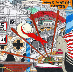 Limited Edition Art Print on Canvas 'VENETIAN CANALS' Artist signed & numbered