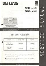 AIWA Original Service Manual per l'NSX-V 50/53