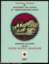 FRANCE COMPLETE BOOKLET SC#B409a YV#2016 RED CROSS 1967