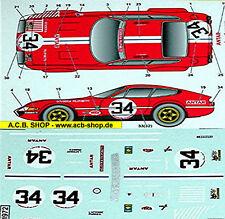 Ferrari Daytona LeMans 1972 # 34 Antar 1:43 Decalcomania