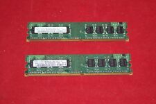 Lot of 2x512Mb (1 Gb Total) RAM DDR2 Samsung PC2-4200U 533Mhz (M378T6553EZS-CD5)