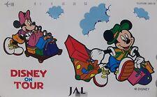 Disney Tokyo Disneyland Phone Card Unused Disney on Tour English Japanese Mickey