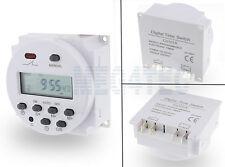 LCD DIGITAL INTERRUPTOR DE ENCENDIDO SEMANAL PROGRAMABLE TEMPORIZADOR 12V DC/AC