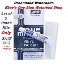 2 Individual Blue Magic WATERBED PATCH KITS-Vinyl Mattress Repair-FREE SHIPPING