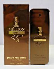 1 Million Prive By Paco Rabanne 3.4 oz Eau De Parfum Spray For Men SEALED NEW