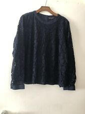 Marks And Spencer Navy Blue  Lace Front top Size 20