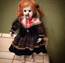 The Grudge Blonde Vampire Creepy Horror Doll by Bastet2329 Christie Creepydolls