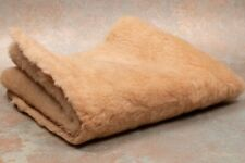 "High Quality Teddy Bear Fabric Acrylic Light Brown 17x26"" Wavy Dense 50001082"