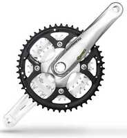 Shimano M443 Octalink Mountain Bike Crankset 48-36-26 for 9 Speed 170mm