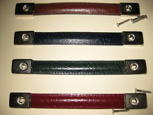 Real Leather strap handle for speakers,amp,flight boxes etc / nickel end caps