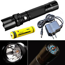 200m LED Hight Light Click Flashlight Torch Lamp Outdoor+18650 Battery+Charger