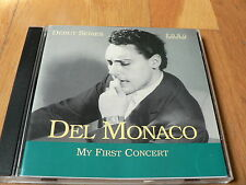 Mario del Monaco : My First Concert - Verdi - Bizet - Wagner - CD Fono 2001