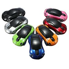 3D Car Shape 2.4G Optical Wireless Mouse Mice USB Receiver For PC Laptop
