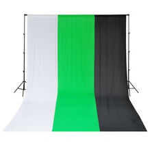 Video Background Support System+3x6m Muslin Black/Green/White Backdrop Durable