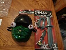 NINJA SET WITH MASK & WEAPONS  NEW Great for dress up play