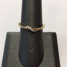 10K REAL YELLOW GOLD 0.05 Diamond Twist Design Band RING SZ 7/ 1.5gr