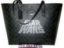 Star Wars X Coach Signature Black Leather Town Tote Purse F88019