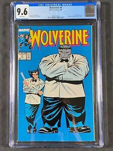 Wolverine #8 CGC 9.6 WT Pgs 1989 3853874013 Marvel Comics John Buscema