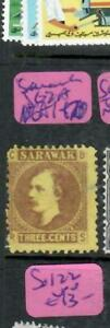 SARAWAK (P2612B) 1871 BROOKE 3C STOP SG2A NGAI  ANTIQUE OVER 100 YEARS OLD