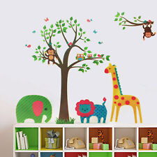 Walplus Animals Tree Wall Sticker Self-adhesive Art Decal Room home Decorations