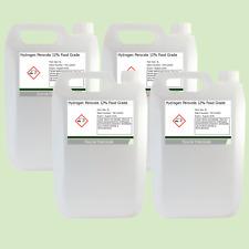 Hydrogen peróxido de grado alimenticio 12% 4 X 5 litros (20L)