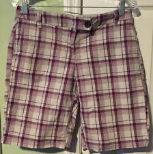 EUC New York & Company Women's Bermuda Shorts Size 6 Tan Purple Pink