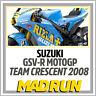 Kit Adesivi Suzuki GSV-R Team Crescent Rizla MotoGP 2008 - Light Version