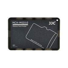 JJC MCH-MSD10GR Pocket Credit Card Size Memory Card Holder for 10 Micro SD cards
