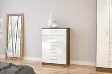 Walnut 101cm-150cm Height Chests of Drawers