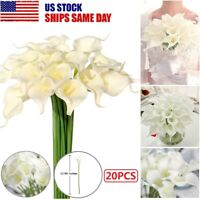 20PCS Artificial Calla Lily Flowers Real Touch Latex Wedding Bouquet Home Decor