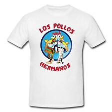 T-SHIRT LOS POLLOS HERMANOS BREAKING BAD GUS WALTER WHITE PINKMAN BLUE SKY