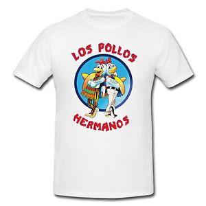 T-SHIRT LOS POLLOS HERMANOS BREAKING BAD GUS WALTER WHITE PINKMAN BLUE SKY