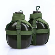 Outdoor Sports Water Bottle Aluminum Military Camping Hiking Large Capacity New