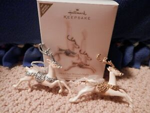 """Hallmark Reindeer Ornament - """"On a Clear Winter's Night"""" 2007 Limited"""