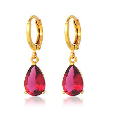 womens Statement Vintage jewelry 18K gold filled crystal Drop/Dangle earrings