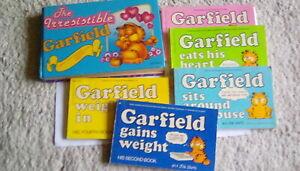 6 GARFIELD PAPERBACK BOOKS BUNDLE GARFIELD THE CAT CARTOONS BY JIM DAVIS