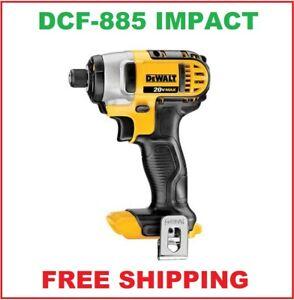 New Dewalt 20 Volt Max Impact Driver With Belt Clip # DCF885