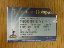 28/08/2004 Ticket: Tottenham Hotpsur v Birmingham City  (folded, corner cut off)