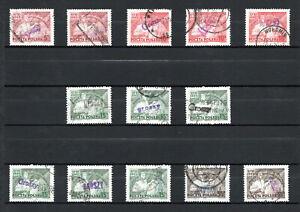 """PL Polen 1950 Mi.-Nr. 642 - 645 Aufdruck """"GROSZY"""" auf 539 - 542 gestempelt o"""